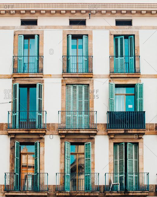 Window symmetry in Barcelona Spain