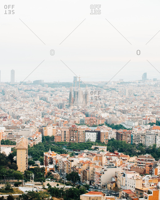 View of Barcelona from Canons del Carme