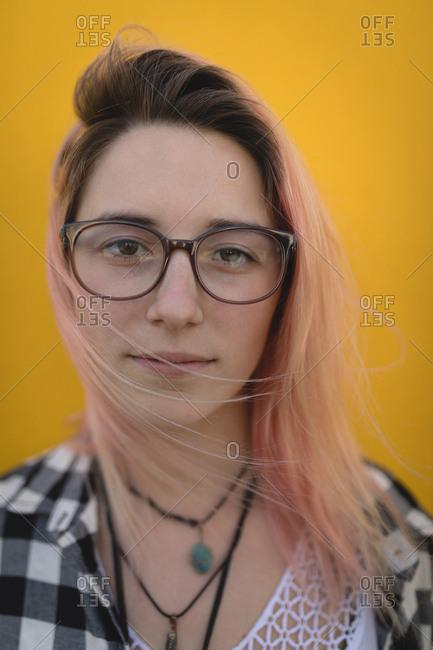 Beautiful young woman posing for camera