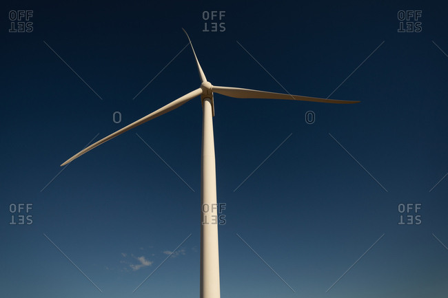 Wind mills at a wind farm during daytime