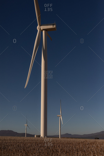Wind mill at a wind farm during daytime