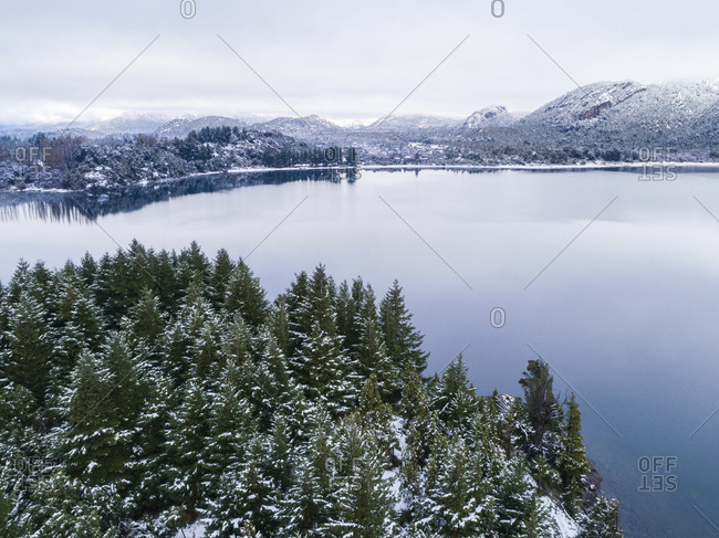 Calm waters of Moreno Lake, Bariloche, Argentina