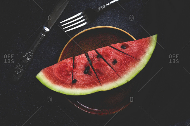 Creative layout made of fresh watermelon