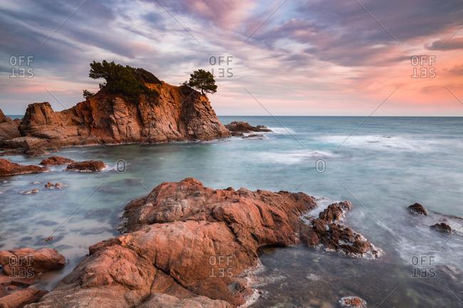 Beautiful rocks in sea