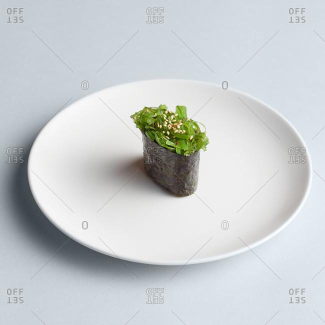 Minimalistic Maki sushi on plate