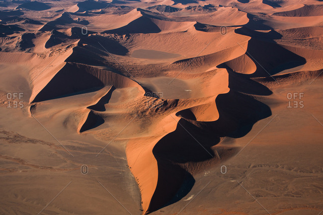 Aerial view of desert