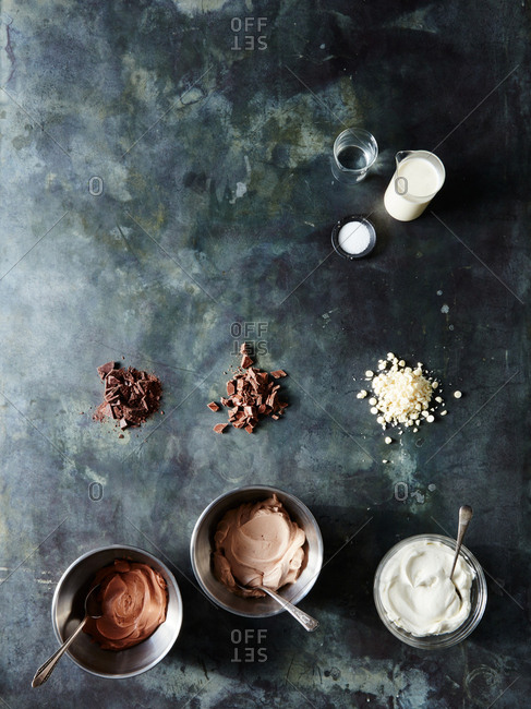 Whipped cream chocolate