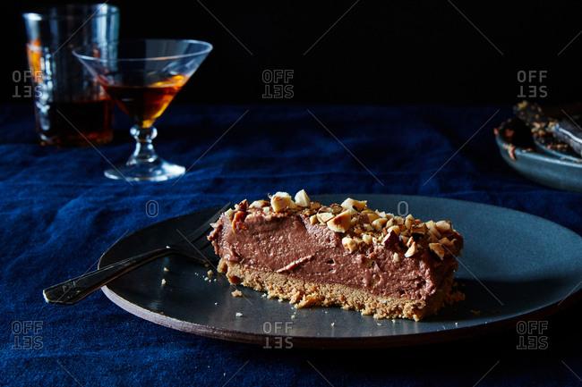 No bake hazelnut and chocolate cheesecake