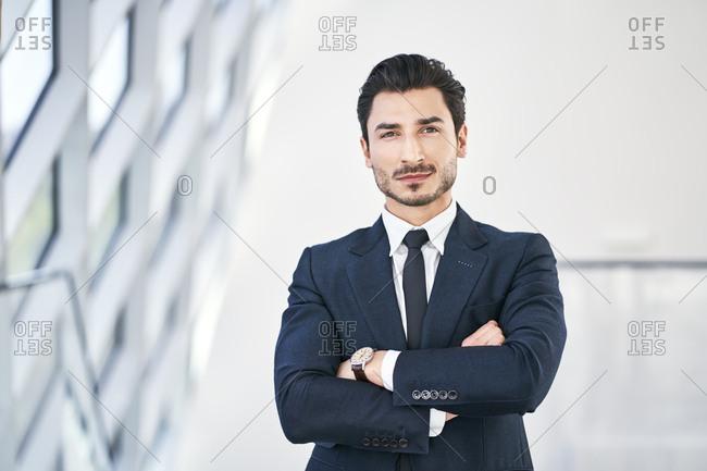 Portrait of confident young businessman