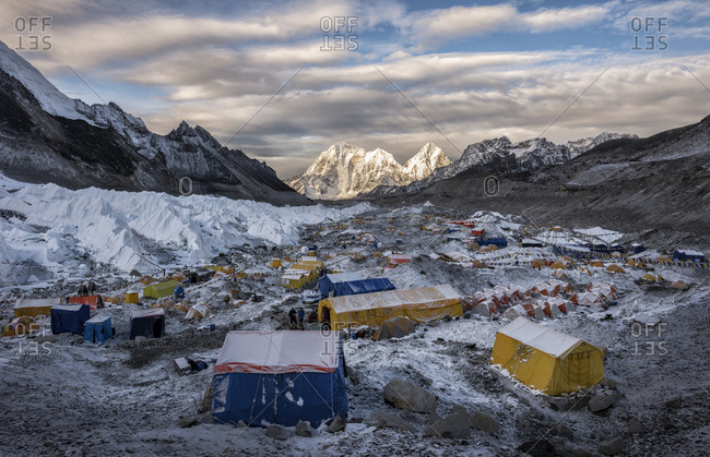 Nepal- Solo Khumbu- Everest- Sagamartha National Park- Tents at the Base camp