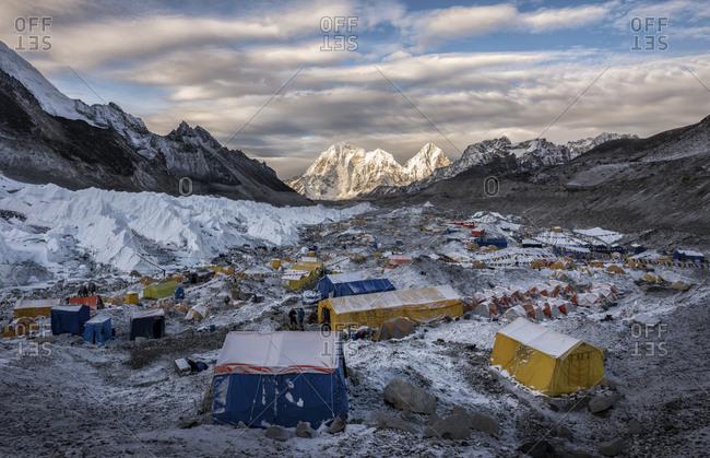 Nepal- Solo Khumbu- Everest- Sagamartha National Park- Tents at the Base camp