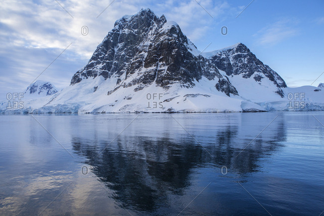 Antarctic- Antarctic Peninsula- glaciated mountains in Lemaire Channel