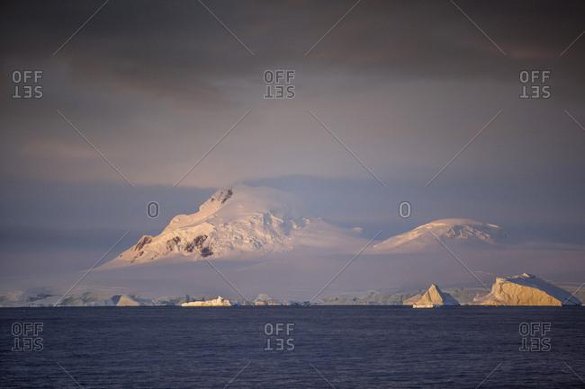 Antarctic- Antarctic Peninsula- iceberg- morning mood