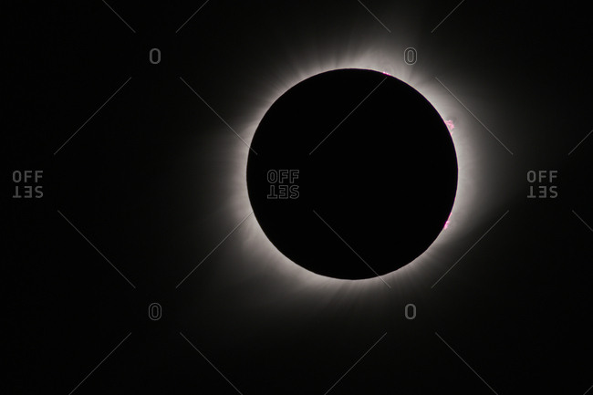 Total solar eclipse, as viewed from Wyoming