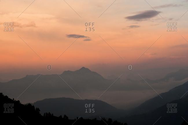 Carnic Alps in the sunset light, Friuli Venezia Giulia, Italy