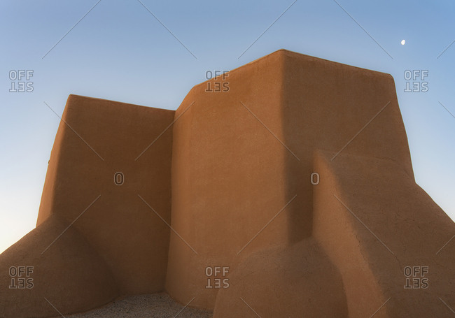 Adobe walls of San Francisco de Asis Church in New Mexico
