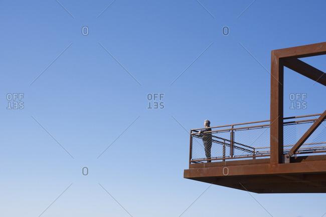 Man on observation deck