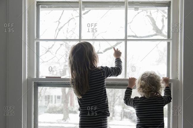 Children by window