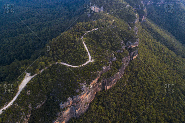 Road in Jamison Valley in Blue Mountains National Park