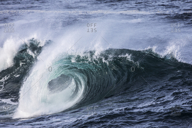 Close-up of breaking wave