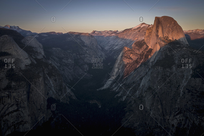 Half Dome And Valley Of The Yosemite National Park