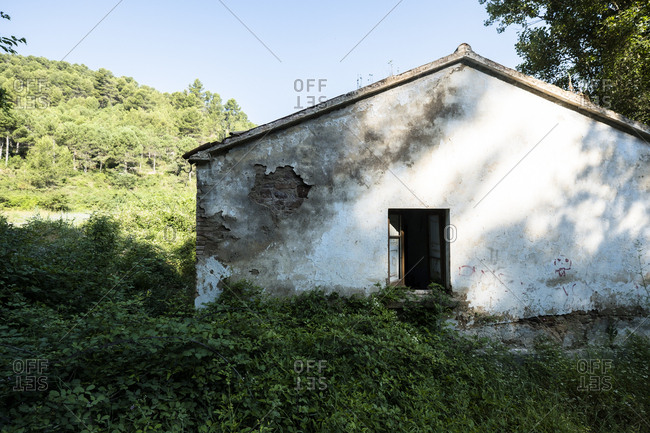 Exterior of an old abandoned peasant house