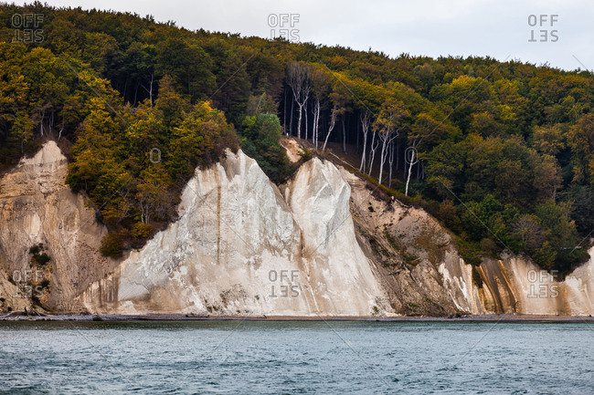 Chalk cliff close Sassnitz