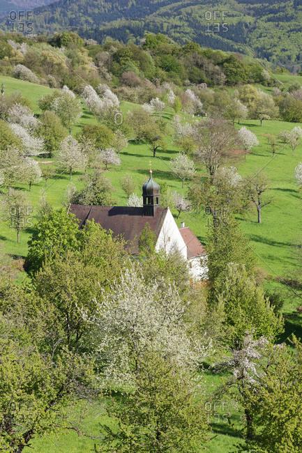 Kapelle Berghausen, Ebringen, Markgrufler Land, southern Black Forest, Baden-Wurttemberg, Germany