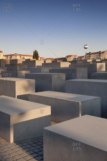 Berlin, Germany - July 6, 2018: The Holocaust memorial, the Mitte district