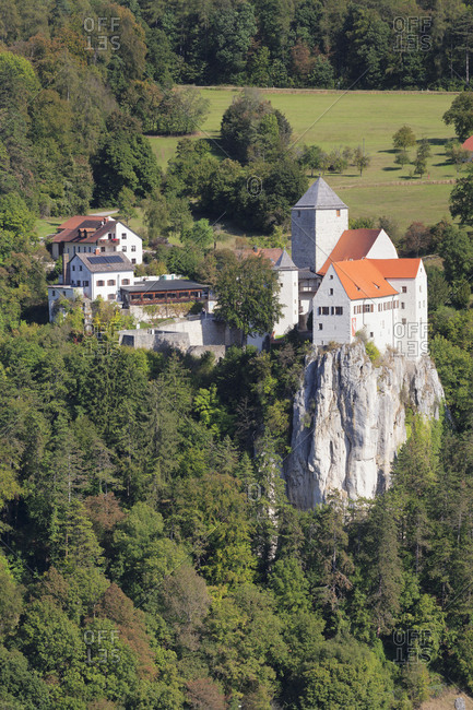 Castle Prunn near Riedenburg, nature reserve Altmuehl valley, Lower Bavaria, Germany
