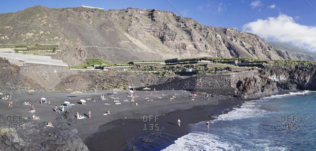 Playa de Charco Verde, Puerto Naos, La Palma, Canary islands, Spain