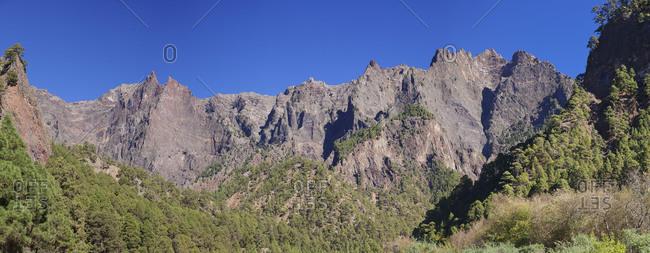 Caldera de Taburiente, Parque Nacional de la Caldera de Taburiente, UNESCO biosphere reserve, La Palma, Canary islands, Spain
