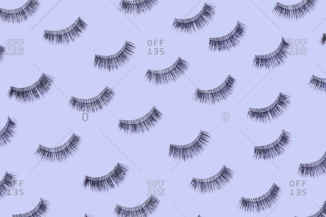 Group of eyelashes