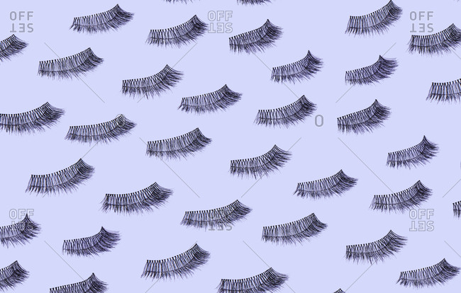 Group of identical eyelashes