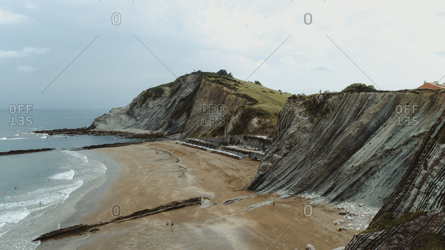 Beach landscape in Basque Country, Spain