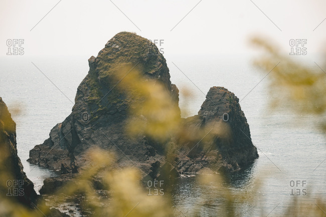 Rock formation in between the sea