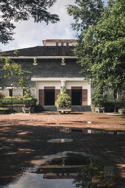 My Lai, Vietnam - October 3, 2017: The exterior of the My Lai Massacre Museum in Quang Ngai, Vietnam
