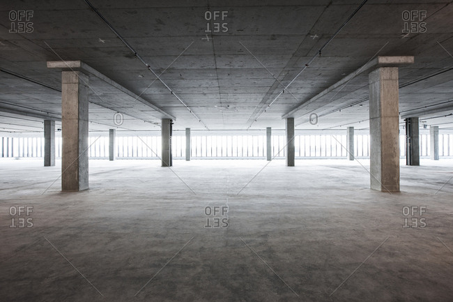 An empty raw business space ready for occupancy