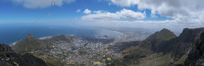 Panoramic view of Cape Town on a beautiful day