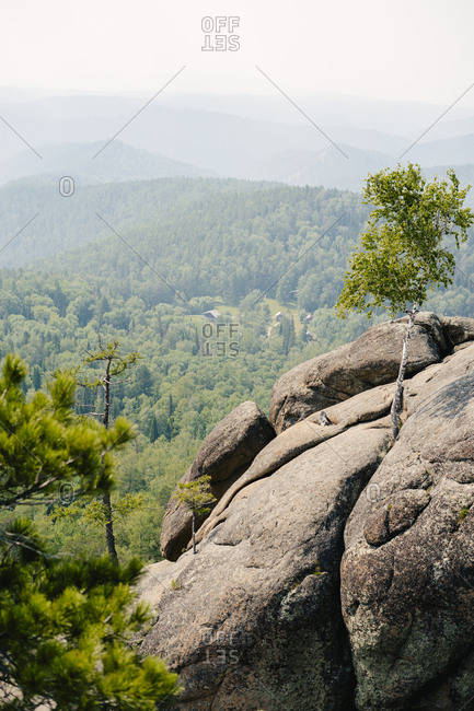 View from cliff in the Stolby Nature Sanctuary