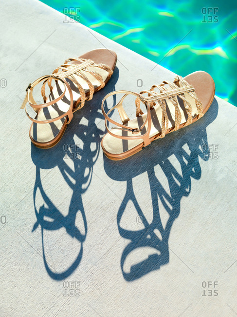 Sandals by the pool - Offset