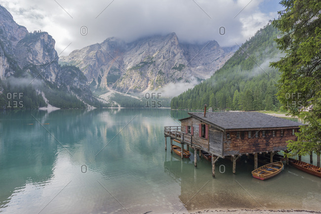 Italy- South Tyrol- Dolomites- Lago di Braies- Fanes-Sennes-Prags Nature Park