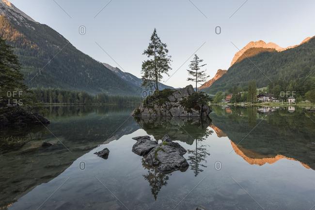 Germany- Bavaria- Berchtesgaden Alps- Lake Hintersee
