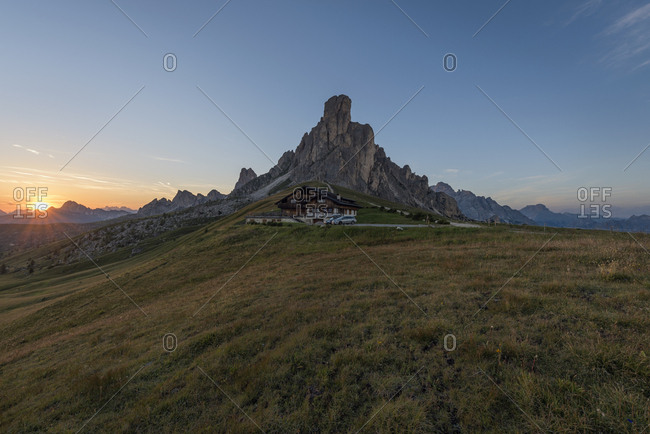 Italy- Alps- Dolomites- Passo di Giau at sunrise