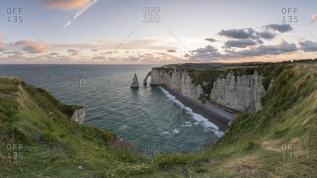 France- Normandy- Etretat- Cliffs