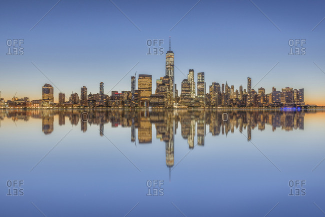 USA- New York City- Manhattan- New Jersey- cityscape