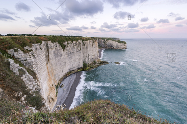 France- Normandy- Etretat- Cliffs - Offset
