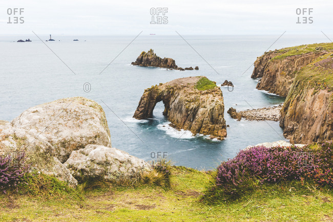 United Kingdom- Cornwall- Enys Dodman Arch at Land's end