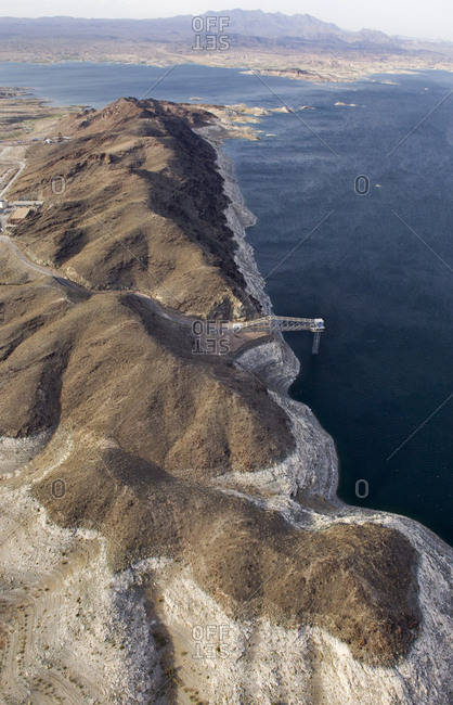 One of two Las Vegas intakes from Lake Mead brings water to metro areas in southern Nevada.