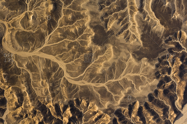 Erosion patterns in desert sand between the Nile and the Red Sea.